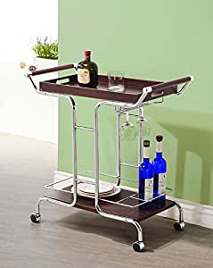Coaster Home Furnishings 910065 Serving Cart, Chrome