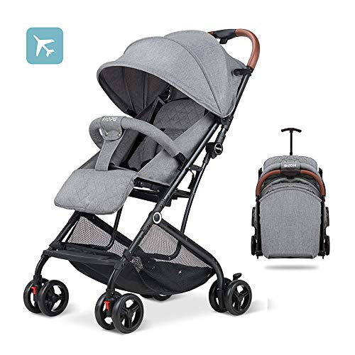 Baby Stroller,Umbrella Stroller,Lightweight Compact Travel Stroller – One Hand Fold,Linen Fabric,Full Recline Up 170° – Baby Can Sit Or Lie Down, Pull Handle, Can Take It On The Airplane