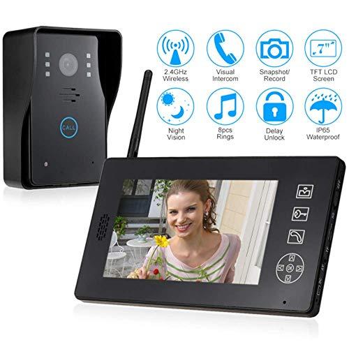YWT 2.4G Video Door Phone Doorbell Wire Video Intercom Monitoring, 7