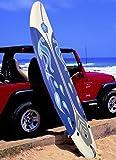K&A Company Beach Foamie Body Surfboard Surfing Ocean Surf Boarding Board New 6' White 200 lbs Capacity