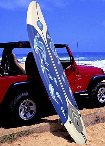 K&A Company Beach Foamie Body Surfboard Surfing Ocean Surf Boarding Board New 6' White 200 lbs Capacity by K&A Company