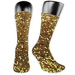 Gold Sequins Unisex High Ankle Casual Socks