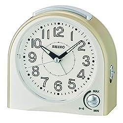 SEIKO Alarm Clock, Plastic, Gold, 11.5x 11.8x 5.6