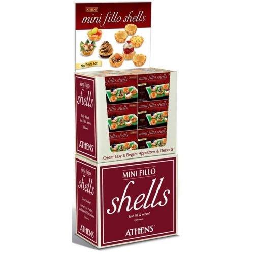 Athens Mini Fillo Shell Dough - 15 per pack -- 60 packs per case.