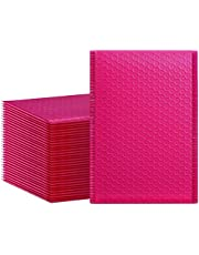 HBlife 6x10 Inches Poly Bubble Mailers Self Seal Hot Pink Padded Envelopes Shipping Envelopes Plastic Mailing Bags, Pack of 25