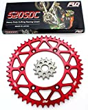 FLO MOTORSPORTS O-RING Chain & Sprocket Combo KIT SUZUKI RM-Z450 Front Sprocket 13 Tooth / Rear Sprocket 50, 51, 52 and 53 RED and BLACK (51T, RED)