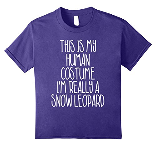 Kids Cute Simple Snow Leopard Halloween Costume Shirt Girls Boys 10 (Leopard Diy Halloween)