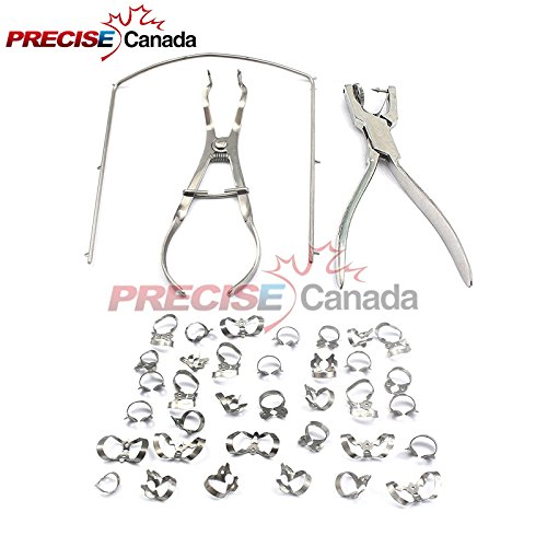 Precise Canada - Starter Rubber Dam Kit Of 43 Dental Medic Instruments by PRECISE CANADA