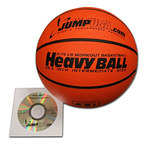 Weighted Rubber Trainer - 4-Pack Heavy Ball 3lb Weighted Trainer Basketball 28.5 Hi-Carbon Rubber with Skills Video