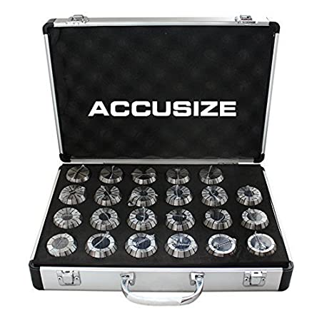 AccusizeTools 3350-0582 Metric ER Collet 1 mm to 10 mm by 1 mm ER-16 Collet 10 Pcs//Set