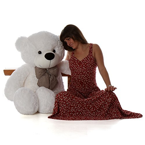Cuddle White Bear - Giant Teddy Brand - 4 Foot Huge Cuddly Stuffed Animal for Girlfriend (Snow White)