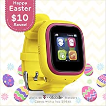TickTalk 2.0 Touch Screen Kids Smart Watch, Easter Basket Stuffer, GPS Phone Watch, with New App, Top Rated Positioning Chip, Things To Do Reminder, Phone/Messaging (SIM CARD INCLUDED)(Yellow)