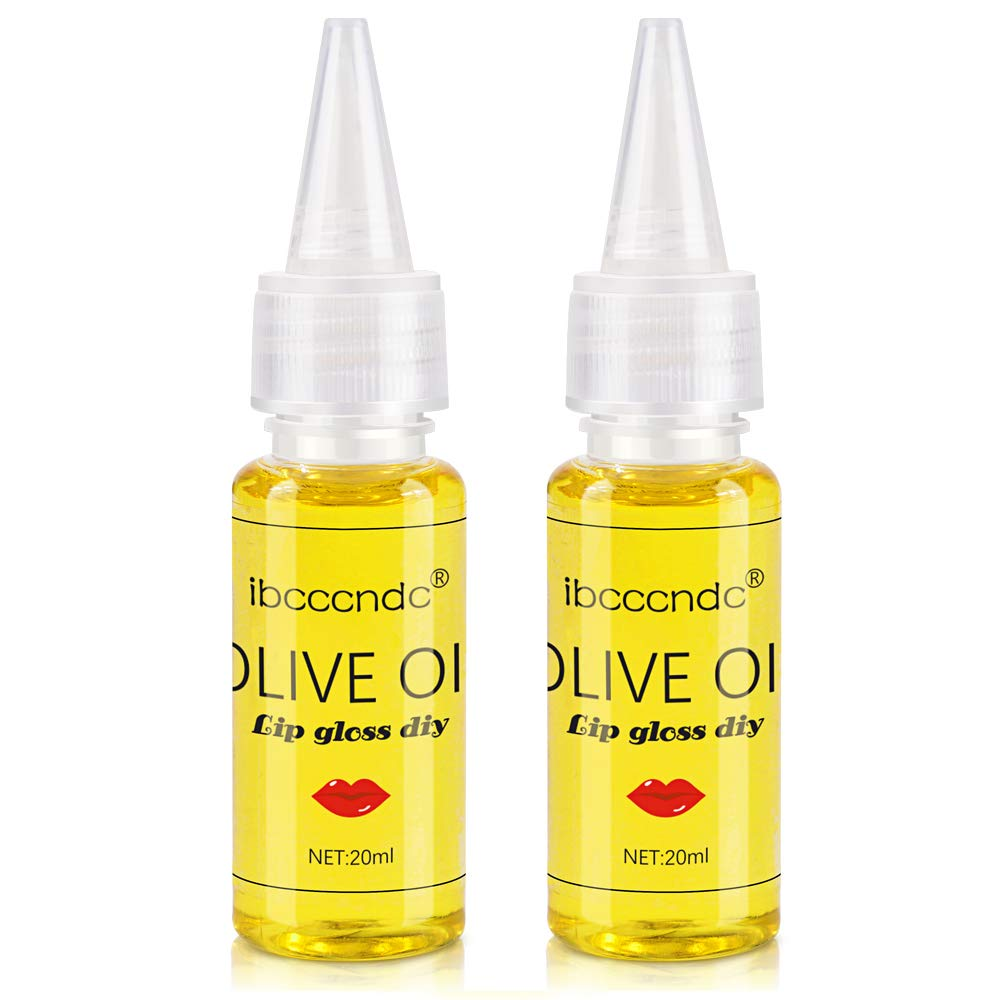 Ibcccndc Diy Lip Gloss Material Food Grade Olive Oil Essence Oil Base Oil For DIY Lip Gloss Making(2pcs)