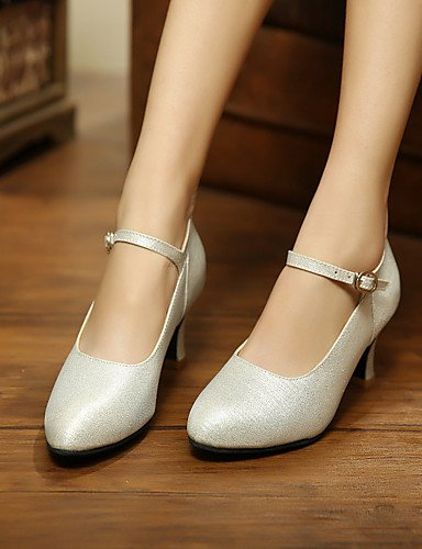 La mode moderne Sandales Chaussures de danse pour femmes personnalisables sur mesure valse Argent/Or Talon,argent,US9/EU40/UK7/CN41