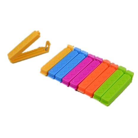 Lote de 10 pinzas de fermer las bolsas Clip de cierre color Random