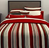 City Scene, Plaza Red  Collection, Duvet Set, Twin