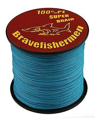 Bravefishermen Strong Pe Braided Fishing Line 10LB to100LB Sea Blue