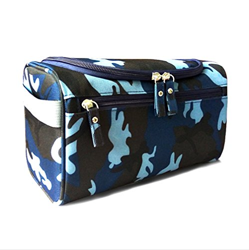 ColorMixs Hanging Toiletry Bag Bathroom Shower Wash Shaving Kits Pouch for Men Women (Camouflage)