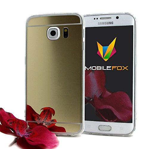 Mobilefox Schneewittchen Schutzhülle Spiegel TPU Case Samsung Galaxy S6 Edge Gold