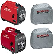 Honda EU2000i 2000W Generator, EU2000iC Companion Generator, (2) Silver Covers