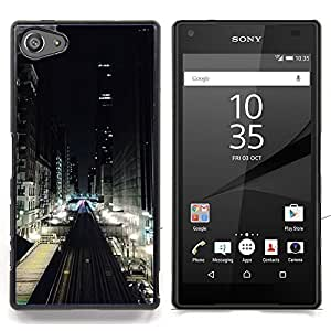 Stuss Case / Funda Carcasa protectora - Luces de la calle Ver Edificios - Sony Xperia Z5 Compact Z5 Mini (Not for Normal Z5)