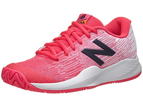 New Balance Girls' Hard Court KC996V3 Tennis Shoe, Alpha Pink, 11 Medium US Little Kid (New Balance Tennis Shoes For Kids)