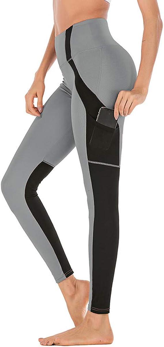 DOGZI Legging pour Femme Pantalon de Yoga Gym Couture de Maille avec Poche Legging Serr/é Haute /Élasticit/é Body Shaper Surv/êtement pour Yoga Fitness Jogging Gym Pilates