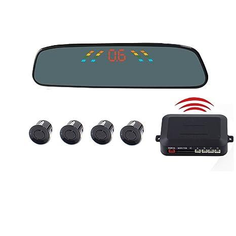 Sensores de aparcamiento para coche con 4 sensores de sustitución, radar de marcha