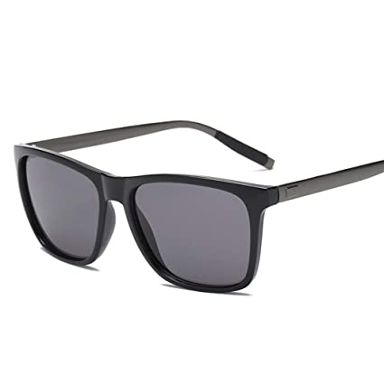 54ab25d7ef Carsge Gafas de Sol polarizadas para Hombres Gafas de Moda con Montura de  Metal Rectangular Protección