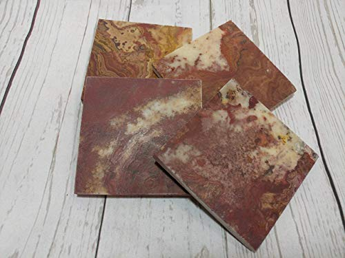 Stone Red Royal (Royal Red Onyx coaster set natural stone unique texture)