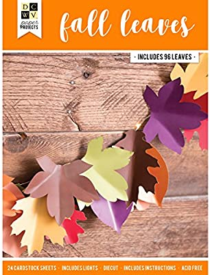American Crafts Dcwv Paper Projects Fall Leaves Makes 96
