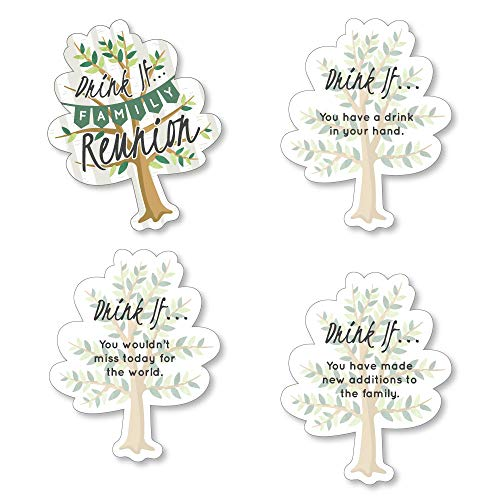 Drink If Game - Family Tree Reunion - Family Gathering Party Game - 24 Count