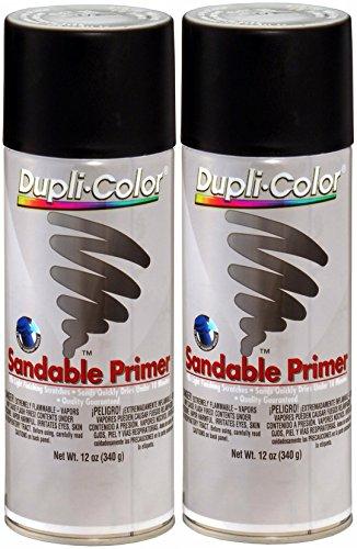 Dupli-Color DAP1698 Black Hot Rod Sandable Primer 12 oz. Aerosol (2 PACK)