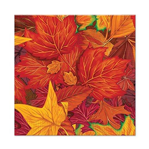 (Beistle Fall Leaf Beverage Napkins (48 Pack), Multicolor)