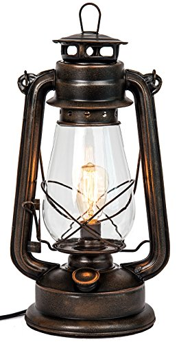 Cheap  Dimmable Electric lantern lamp with Edison bulb Included Rustic Rust Finish