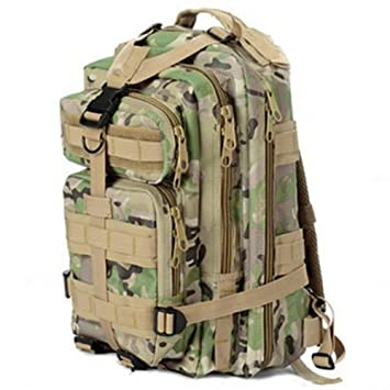 Deporte al aire libre militar táctico ZHOL mochilas Molle mochila senderismo (CP camuflaje): Amazon.es: Deportes y aire libre