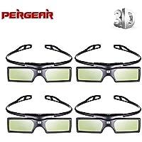 Emgreat 4× G15-DLP 144Hz 3D DLP-LINK Active Glasses For Optoma/BenQ/Acer/ LG Projector