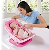 Deluxe Baby Bather With Removable Head Support Cushion Infant Bath Aid Todler