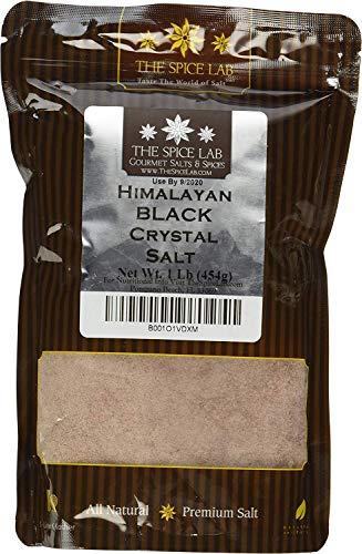 - The Spice Lab Kala Namak Himalayan Black Crystal Indian Salt - Mineral Enriched Kosher Gluten-Free All Natural Salt - Fine Ground - 1 Pound Bag