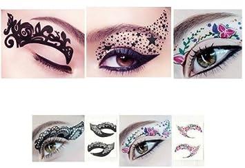 Amazon.com : Hitece 10 paires Temporary Eye Tattoo Transfer ...
