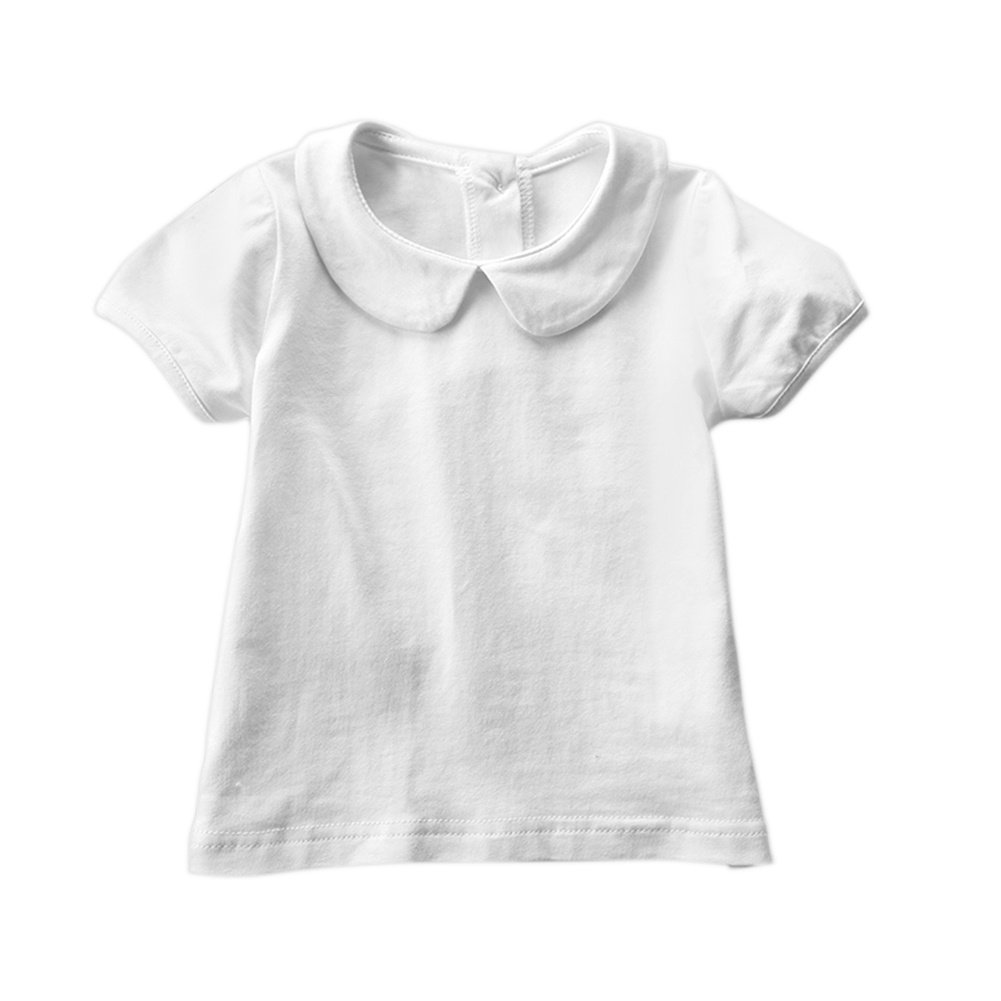 Brightup Summer T Shirt for Baby Girl Short Sleeve White T Shirt Summer Tops