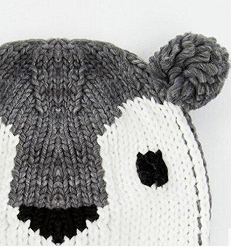 Feeson Womens Warm Ear Cute Koala Cable Knitted Winter Wool Snow Beanie Hats