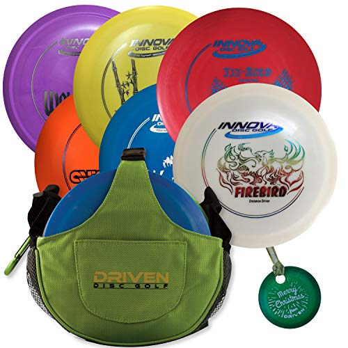 Bag Grip Mini (Holiday Special Edition Disc Golf Gift Set - Includes 6 Discs, Slingshot Bag, Mini Marker Christmas Tree Ornament)