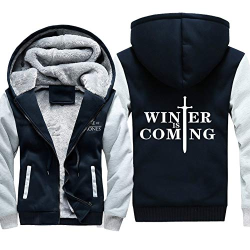 Cappuccio Game Giacche Con Sweatshirt Of Is Unisex Coming Invernali Felpe Uomo 18 winter Cappotto Velluto Hooded Thrones Spesso Zip q8q47wOr