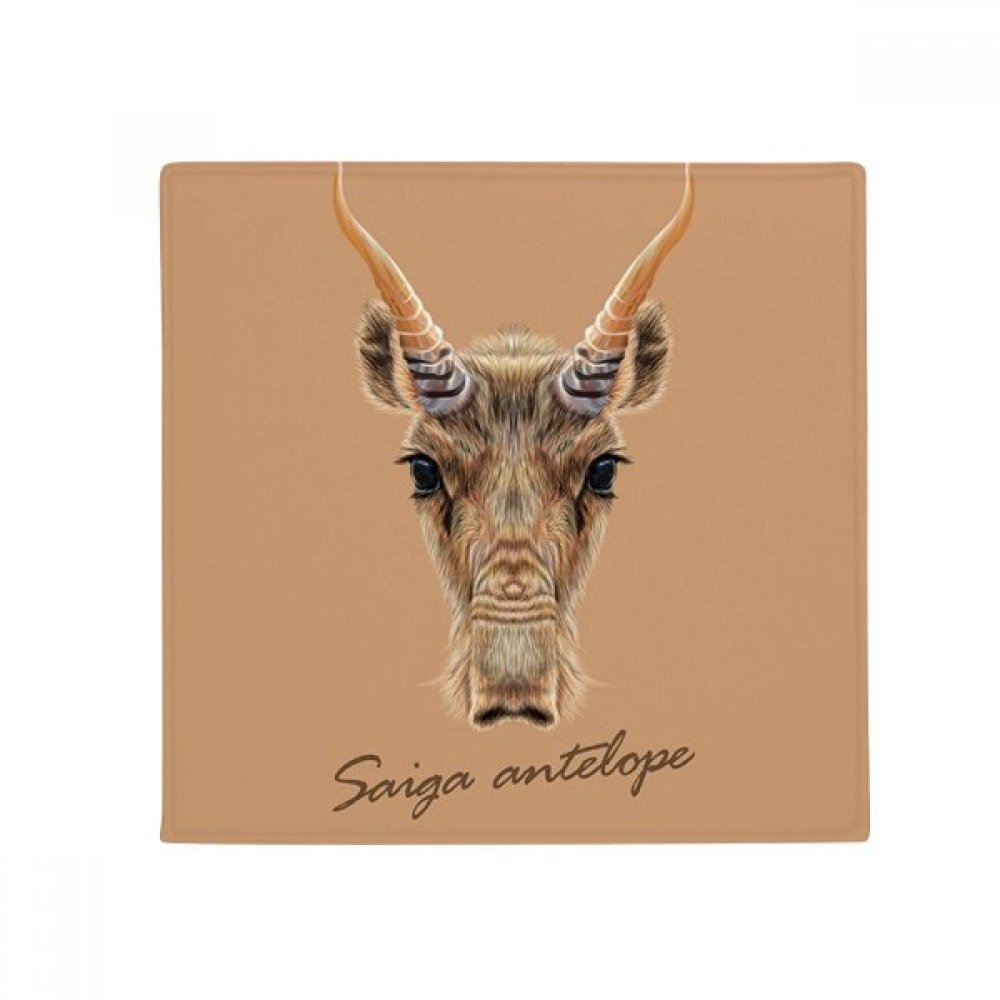 DIYthinker Brown Wild Saiga Antelope Animal Anti-Slip Floor Pet Mat Square Home Kitchen Door 80Cm Gift
