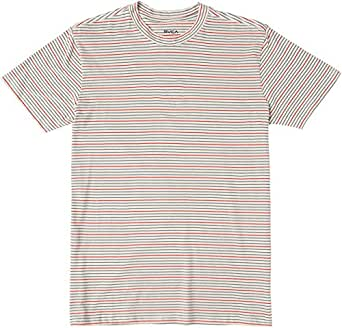 RVCA Big Boys' Benson Crew Neck Short Sleeve Tee, Silver Bleach, S
