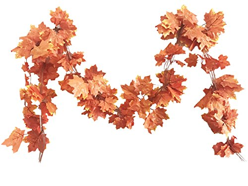(Crt Gucy 38 Ft Autumn Artificial Maple Leaf Garland Fall Decoration for Home Wedding Wall Party, Pack of)