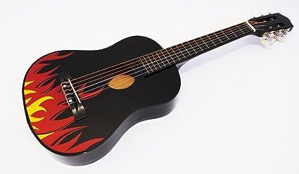 Guitarra Clásica para Niños 1/4 pequeño nuevo dibujo modelo 7 Púas ...