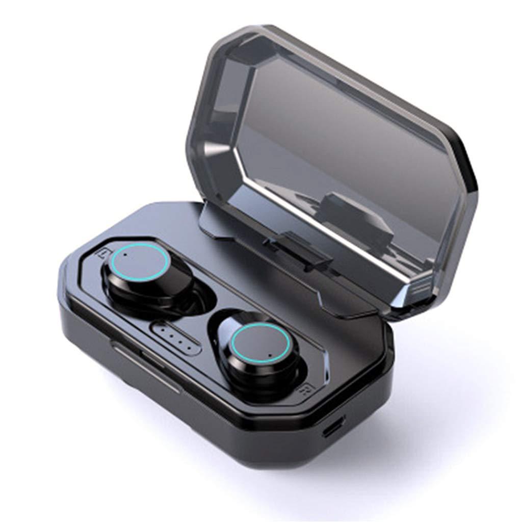 Sixsons Ture ワイヤレス Bluetooth ヘッドセット Bluetooth 5.0 イヤホン ステレオ ヘッドセット インイヤー ヘッドホン ミニ 車 ヘッドセット マイク付き 指紋コントロール スポーツ イヤホン ノイズキャンセリング ヘッドホン インビジブル イヤホン B07PJ1B25G