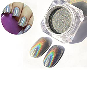 Born Pretty 1g/Box Holographic Laser Powder Nail Glitter Rainbow Pigment Manicure Chrome Pigments